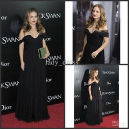 Wholesale Cheap Net Lighting - Black Sexy Soft Nets Chiffon Floor Length Cheap Celebrity Evening Dresses 2016 Custom Made Red Carpet Gowns Formal Party Dress