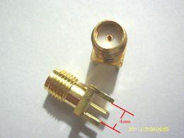 Wholesale Sma Pcb Mount Jack - 100 Pcs Gold SMA female jack Panel Mount PCB Solder RF CONNECTOR