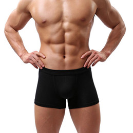 Wholesale Men Pouches - New Sexy Men Underwear Black White 2017 Fashion Mens Boxer Shorts Bulge Pouch Soft Underpants 5pcs lot