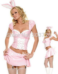 Wholesale Sexy Bunny Adult Costume - Wholesale-High Quality Costume Cute Costumes For Girls Sexy Adult Cute Bunny Outfit Set Carnival Costume
