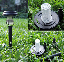 Wholesale Mosquito Killer Uv Lamp - 2015 New Solar UV LED Light Outdoor Yard Garden Lawn Anti Mosquito Insect Pest Bug Zapper Killer Trapping Lantern Lamp Lights