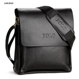 Wholesale Wholesale Bag Cross - Wholesale- In 2017 ,100% Genuine Leather POLO Men Bag Casual Business Brand Mens Messenger Bag Vintage Men's Crossbody Bag bolsas male L60
