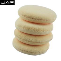 Wholesale Large Pieces Cotton - 4 piece Portable Face Sponge Makeup Cosmetic Powder Puff Large Cotton With Belt FPCM01