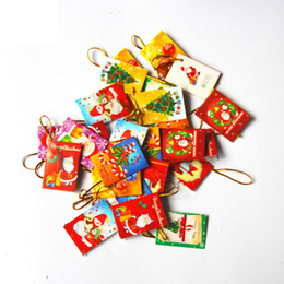 Wholesale Christmas Three Ornaments - Christmas wish card for Christmas tree ornaments decorated three dimensional blessing cards card Christmas decoration supplies creativity
