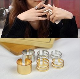 Wholesale Open Top Finger Rings - 2015 New 3Pcs Set Fashion Top Of Finger Over The Midi Tip Finger Above The Knuckle Open Ring For women Fashion Jewelry