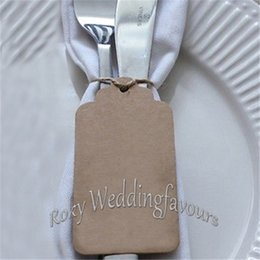 Wholesale Favor Tags - Free Shipping!100ps Rectangle Kraft Paper Tags Favor Gift Tags Wedding Party Favors Supply DIY Gift Label With Twine Strings