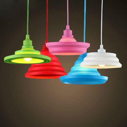 Wholesale Office Room Colors - Novelty Colorful Pendant Lights 12 colors DIY Pendant Lighting 11Meter Cord Art Deco Modern Pendant Lamps
