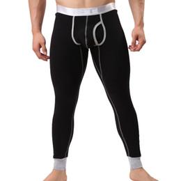 Wholesale Mens Design Shirts - Wholesale-Brand Winter Thicken Long Johns Mens Cotton Underpants U Convex Pouch Design Men Healthy Long John 6 Colors