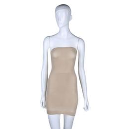 Wholesale Slim Shaper Dress - Wholesale-Popular plus size Women Seamless shapers slimming Control Body Shaper Tube Dress shaper waist trimmer corset Shapewear bodysuit
