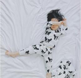 roupa dos meninos franceses Desconto Owlbaby Bulldog Francês Crianças Pijama para Bebés Meninos Meninas Dos Desenhos Animados Pijama Dupla Gaze Pijamas Meninas Pijamas Pijamas Do Bebê Roupa Dos Miúdos