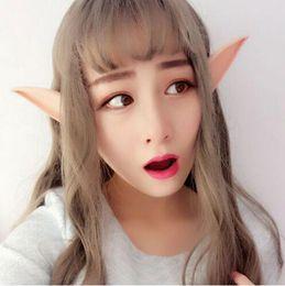Wholesale Christmas Fairies Elves - Mysterious Angel Elf Ears fairy Cosplay Accessories LARP Halloween Party Latex Soft Pointed Prosthetic False ears MT-020