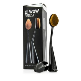 Wholesale Black Beauty Cosmetics - CAILYN 1 pc Oval Makeup Brush o! wow brush Beauty Cream Puff Cosmetic Toothbrush-shaped foundation contour brush Blending Tools with box.