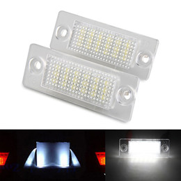 Discount vw led number - 2Pcs Error Free 18 LED License Number Plate Light Lamps Bulb fit for VW Caddy Transporter Passat Golf Touran Jetta Skoda T5