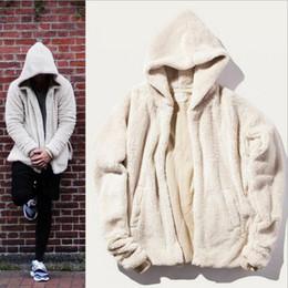 Wholesale Hood Hoodies - Wholesale-PUNKOOL Hip Hop Justin Bieber Hoodies Men Fashion Mens Sherpa Hoodie Skateboard Designer Hood Cashmere Sweatshirts Men Hoodie