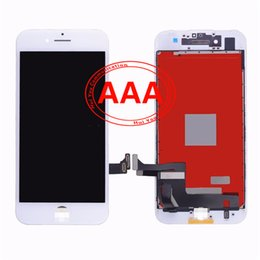 Wholesale Assembly Components - High quality AAA iPhone 7 plus 5.5 LCD touch screen display Digitizer components and framework to complete assembly Replacement Black White