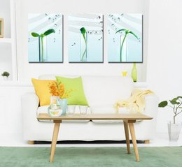 Wholesale contemporary art prints - Contemporary Sprout And Music Culture Giclee Print On Canvas Wall Art Home Decor Set30423