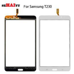 Для Samsung Galaxy Tab 4 SM-T230 T230 сенсорный экран - испытано хорошо работает черный белый датчик Digitizer Ассамблеи + инструменты от Поставщики s4 мини-экран с сенсорным экраном
