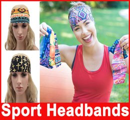 Wholesale Faces Sporting Good - Lady Sport Headbands Good Qualtiy Strecth Headwear Washing Face Yoga Running Headwear 16 Muti-Colors Hair Accessories