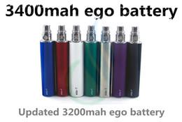Top-Qualität Ego t Batterie 3400mAh riesige Kapazität 3400 mAh vor 1300mAh 2200 EVOD Spinnenbatterie Vision E-Zig Zigarettendampf Mods DHL von Fabrikanten