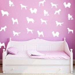 Wholesale Wholesale Computer Paper - 360PCS LOT 2016 Limited Poster Various Colors Dog Wall Stickers Car Decal Funny Laptop Vinyl Computer Sticker Home Decoration Art Removable