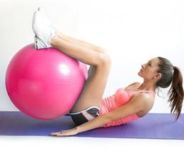 2019 equilíbrio de fitness Venda quente 55 cm Yoga Ball Saúde Balance Pilates Ginásio De Fitness Em Casa Exercício Do Esporte, Rosa, Azul, Cor Roxa equilíbrio de fitness barato