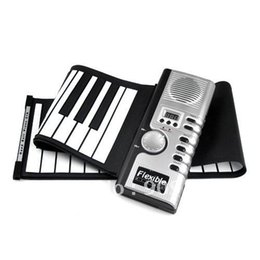 Wholesale Electronic Organ Keyboards - Super Gift 61-Key 61 Keys Digital Roll-up Soft Keyboard Piano With MIDI Electronic Organ For Kid's Gift Drop Shipping