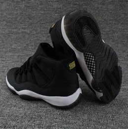 Wholesale Cheap Winter Shoes For Women - 2018 New Cheap Air Retro 11 XI OVO PRM Heiress Stingray 852625-030 Black Gold Gs, Jeter Re2pect For Men Women Basketball Shoes Sneakers