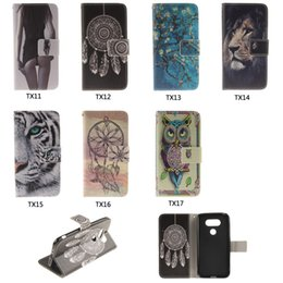 Wholesale lg flip phone leather case - For LG G6 G4 G5 K4 K8 K10 2017 Stylus 3 Case Fashion Advanced Painted Wallet Case Flip Stand Phone Case Retail Package