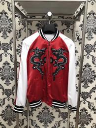 Wholesale Mens Long Coat Pattern - 2017 winter brand Fashion Black dragon embroidery silk coat jacketS Long sleeve Mens Casual Bomber Jacket Men Overcoat