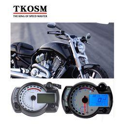 Wholesale Modern H - TKOSM Modern KOSO RX2N 15000rpm Black White Similar LCD Digital Motorcycle Odometer Speedometer Adjustable MAX 199KM H Motorbike