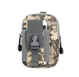 Wholesale Badminton Kit - Outdoor Hiking Travel Kit Universal Army Tactical Waist Bag Mobile Phone Case Cover Pouch outdoor sport bag