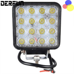 Wholesale Tractor Led Worklight - 48W Car Spot Worklight Head Lamp Boat Truck Motorcycle Off Road Fog Lamp Tractor Car LED Headlight Work Lights Square