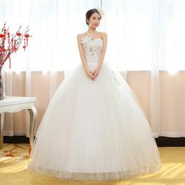 Wholesale Korean Style Pregnant Dress - 2016 New Summer Bride Wedding Dress Korean Style Lace Up Floor Lengh Pregnant Women Bridal Dress NW030