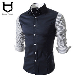 Wholesale Collar Hombre - Wholesale-Camisas Social Office Shirts for men Korean fashion men's shirts long-sleeved shirts Clothing for man hombre 2016 imported
