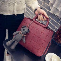 Wholesale Lady Style Toys - (No Toy Bear )Korean Style Lady PU Shoulder Bags Handbag Tote Purse Bag women girl hand bag backpacks daypacks