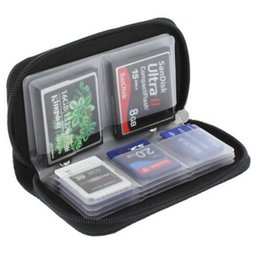 Wholesale Ds 3ds - 22 SLOTS Black Memory Card Storage Carrying Case Holder Wallet For CF SD SDHC MS DS 3DS Game