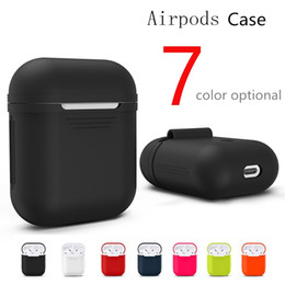 Wholesale Silicone Earphone Covers - 2018 New For Apple Airpods Silicone Case Soft TPU Ultra Thin Protector Cover Sleeve Pouch for Air pods Earphone Case