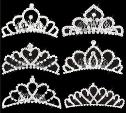 Wholesale Wholesale Bridal Jewelry Cheap - Wholesale Bling Crystals Bridal Crowns 2016 Cheap Jewelry Wedding Accessories Party Tiaras Headpieces Free Shipping Headband Hair Crown
