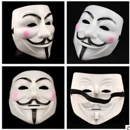 Wholesale Horror Guy - New Halloween mask costume party Cosplay Halloween Party Guy Fawkes V FOR Vendetta Anonymous Adult party Mask decorations