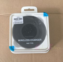 Wholesale Qi Wireless Charger Pad Black - Black White Wireless Qi Charging Pad Samsung Note 5 S6 Edge plus + S7 Edge FAST CHARGER