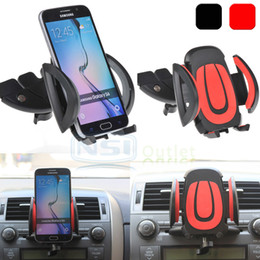 Wholesale Dock Holder Iphone - Car CD Dash Slot Mount Holder Dock Clip For iPhone 7 Samsung Galaxy S7 Edge S6 S8 plus Note 5