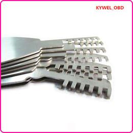 Wholesale Hot Comb Set - Hot Sale HUK 9 pcs Auto Foldable Scissors deft Car Lock Opener folding comb locksmith tools Lock Pick,Locksmith tools