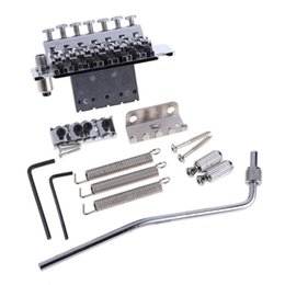 Wholesale Double Locking Bridge - Double Locking System Tremolo Bridge Assembly for 7 String Electric Guitar Chrome