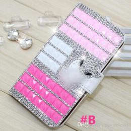 Wholesale Diamond Crystal Case For Lg - Wallet Case For Galaxy S8 Active G892A For LG Q6 Diamond Case Bling Case Crystal Leather Card Slot Opp Bag D