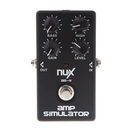 Wholesale Guitar Amplifier Effects - Original Product NUX AS-4 Amplifier Simulator Violao Guitar Electric Effect Pedal True Bypass Musical Instrument Parts accessories