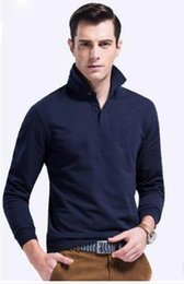Wholesale Mens Polos - 2018 New hot sale 19color Polo Shirt Men Big small Horse crocodile Solid Long-Sleeve Summer Casual Polo Mens Slim Polos Casual Shirt M-6XL