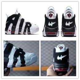Wholesale Panda M - Wholesale Pippen Tempo Black White panda Basketball Shoes Leather Sports Sneakers Shoes Women Men Athletics Casual Shoes