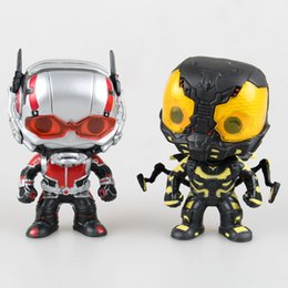 Wholesale Decorative Pop - New Funko pop collection Marvel 10 cm ant man Ant Man yellow jacket heroes figure decorative model toy gift for children
