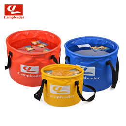 Wholesale Camping Foldable Buckets - Wholesale-2016 New Brand Outdoor Camping Water Buckets 10L-30L Hiking Camping Folding Washing Foldable Water Buckets 6001