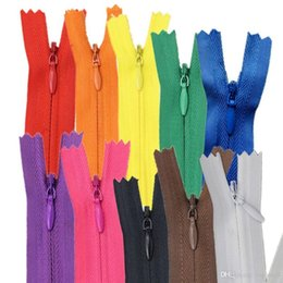 Wholesale Sew Assorted Button - 20pcs Invisible Nylon Zippers Tailor Sewer Craft for Sewing Assorted Colors 31cm